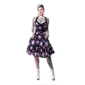 SUICIDE SQUAD - HARLEY SQUAD DRESS LADIES BLACK