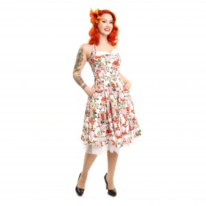 ROCKABELLA - ALISA DRESS LADIES WHITE ORCHID