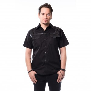 VIXXSIN - Aatu Shirt Mens Black *NEW IN-a*