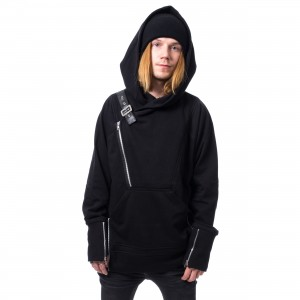 CHEMICAL BLACK - ADALIUS HOOD MENS BLACK |c|