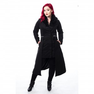 POIZEN INDUSTRIES - ADERYN COAT LADIES BLACK |c|