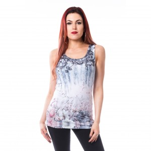 INNOCENT LIFESTY - Agnes Vest Ladies Off White/Blue *NEW IN-a*