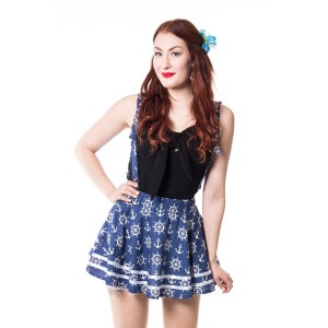 ROCKABELLA - ALEXIS SKIRT LADIES BLUE