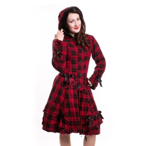 POIZEN INDUSTRIES - ALICE COAT LADIES RED CHECK