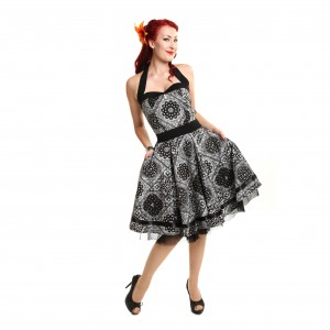 ROCKABELLA - ALISA DRESS LADIES BANDANA BLACK