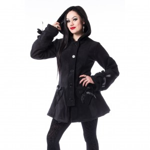 POIZEN - Alison Coat Ladies Black *NEW IN-b*