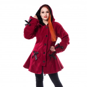 POIZEN - Alison Coat Ladies Red *NEW IN-b*