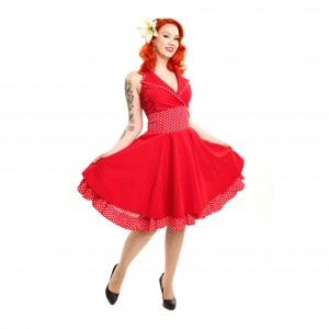 ROCKABELLA - ALMA DRESS LADIES RED