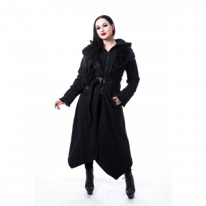 POIZEN INDUSTRIES - AMBELIN COAT LADIES BLACK |c|