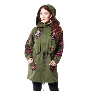 ROCKABELLA - AMORER TOUR COAT LADIES KHAKI *NEW*