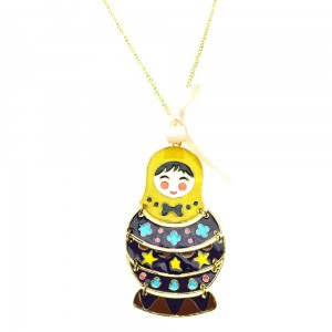 INNOCENT LIFESTYLE - PATTERNED DOLL NECKLACE (ANR5) LADIES YELLOW