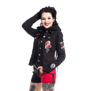 HEARTLESS - ANTI LOVE JACKET LADIES BLACK