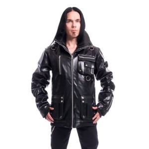 CHEMICAL BLACK - Arsen Jacket Mens Black Pvc *NEW IN*
