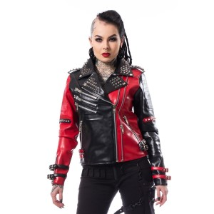 HEARTLESS - Asylum Biker Jacket Ladies Black/Red *NEW IN*