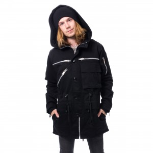 CHEMICAL BLACK - BASTIAN PARKA MENS BLACK |c|