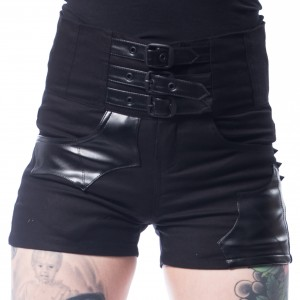 HEARTLESS - BATWING SHORTS LADIES BLACK |b|a