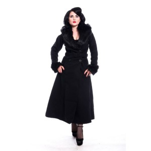 ROCKABELLA - Bianca Coat Ladies Black *NEW IN*