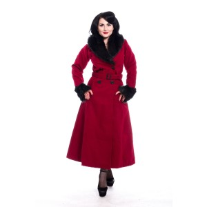 ROCKABELLA - Bianca Coat Ladies Red *NEW IN*