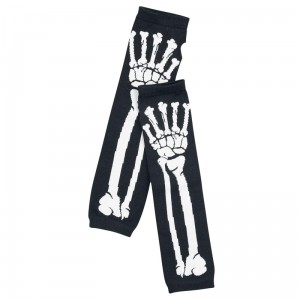 POIZEN INDUSTRIES - BONE ARMWARMERS LADIES BLACK/WHITE