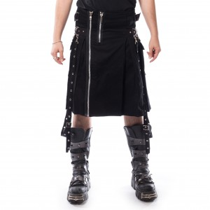 CHEMICAL BLACK - Carl Kilt Mens Black *NEW IN-a*