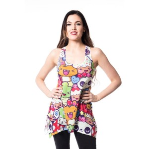 INNOCENT LIFESTYLE - CARTOON LACE PANEL VEST LADIES MULTI