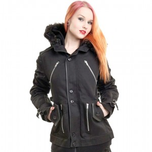 POIZEN INDUSTRIES - CHASE COAT LADIES BLACK