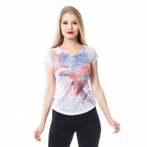 INNOCENT LIFESTY - Colourful Parrot T Ladies White/Multi *NEW IN-a*