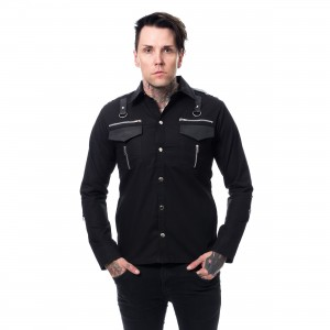 VIXXSIN - COOPER SHIRT MENS BLACK |c|