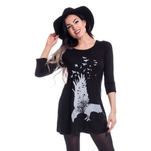 INNOCENT LIFESTYLE - Crow Oak Top Ladies Black *NEW IN*