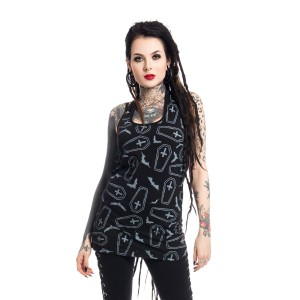 HEARTLESS - CRYPT TOP LADIES BLACK