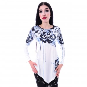 INNOCENT LIFESTYLE - CYNTHIA TOP LADIES WHITE/MULTI |c|