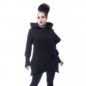CHEMICAL BLACK - Dark Cape Hood Ladies Black *a1
