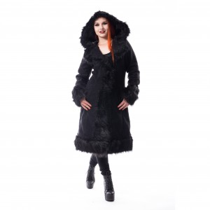 POIZEN - Dark Mase Coat Ladies Black *a1