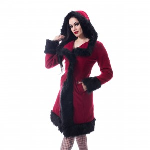 POIZEN INDUSTRIES - DARK MASE COAT LADIES RED |c|