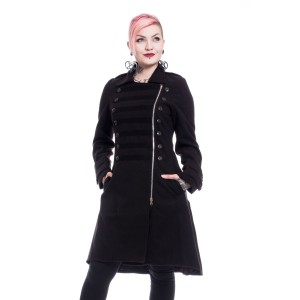 POIZEN - Dark Romance Coat Ladies Black *NEW IN*