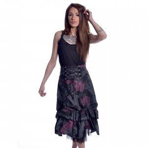 CHEMICAL BLACK - Dark Soul Skirt Ladies Black *NEW IN-a*