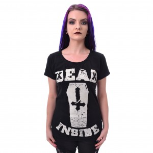 HEARTLESS - DEAD INSIDE T LADIES BLACK |b|a