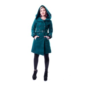 VIXXSIN - DECAY COAT LADIES PETROL SIZE L CLEARANCE