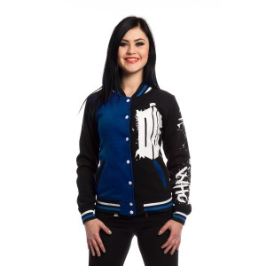 DOCTOR WHO - DOCTOR WHO STREET VARSITY LADIES BLACK *NEW*