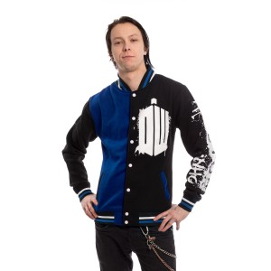 DOCTOR WHO - DOCTOR WHO STREET VARSITY MENS BLACK *NEW*