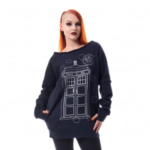 DOCTOR WHO - Doctor Who Time Top Ladies Blue *a1