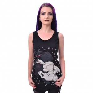 CUPCAKE CULT - DREAM BUNNY VEST LADIES BLACK
