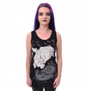CUPCAKE CULT - DREAM UNICORN VEST LADIES BLACK