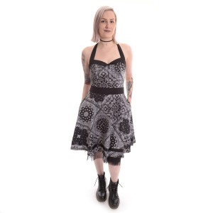 ROCKABELLA - BANDANA DRESS LADIES BLACK