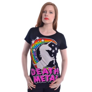 CUPCAKE CULT - Death Metal T Ladies Black *NEW IN-a*
