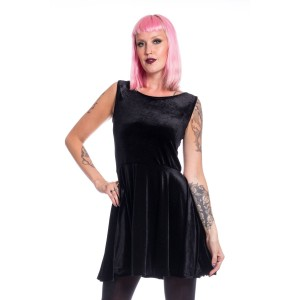 CHEMICAL BLACK - Edit Skater Dress Ladies Black *NEW IN*
