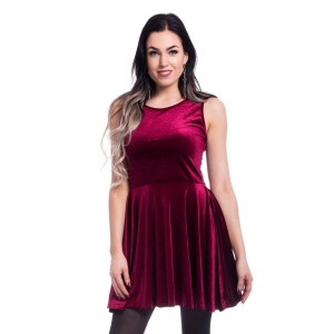 CHEMICAL BLACK - Edit Skater Dress Ladies Red *NEW IN*