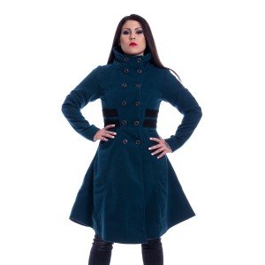 VIXXSIN - Eliana Coat Ladies Petrol Size L CLEARANCE