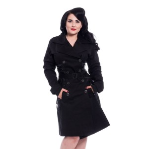 CHEMICAL BLACK - Ellen Coat Ladies Black *NEW IN*