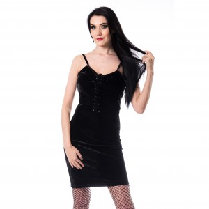CHEMICAL BLACK - Elli Dress Ladies Black *NEW IN-a*